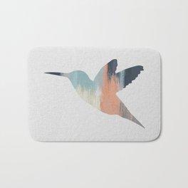 Pastel Hummingbird Bath Mat