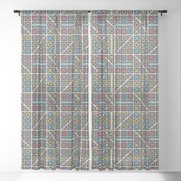 Tic-tac-toe Sheer Curtain