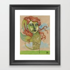 DANCING DRAGON Framed Art Print