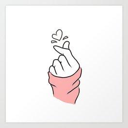 Twice fingerHeart Art Print
