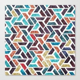 Seamless Colorful Geometric Pattern XVI Canvas Print