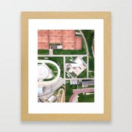 Aerial Geometry Framed Art Print