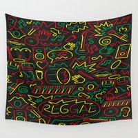 reggae Wall Tapestries featuring Roots, Rock and Reggae by RespecttheQueenDecor