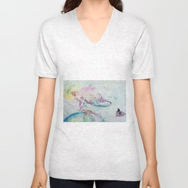 Alien Cow Innoculates Earth Unisex V-Neck