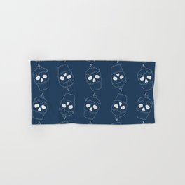 Skullcakes on blue Hand & Bath Towel