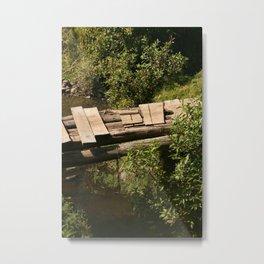 Footbridge Over a Stream Metal Print