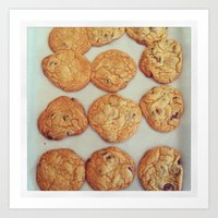 cookies Art Prints featuring Cookies by Yellow Barn Studio