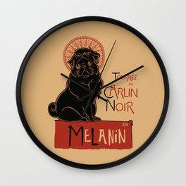 Le Carlin Noir (The Black Pug) Wall Clock