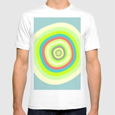 Circles Mens Fitted Tee MEDIUM White