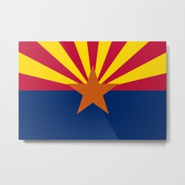Arizona State flag, Authentic version - color and scale Metal Print