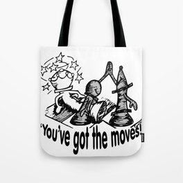 Chess Moves Tote Bag