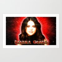 selena gomez Art Prints featuring Dedication #1 - Selena Gomez #1 by InnerSymbiance