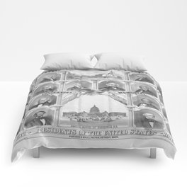 Presidents Of The United States 1776 - 1876 Comforters