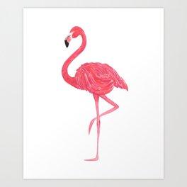Flamingo fuchsia flap Art Print