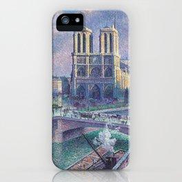 """Maximilien Luce """"Notre Dame de Paris"""" (2) iPhone Case"""