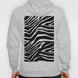 Animal Print Zebra Black and White Hoody