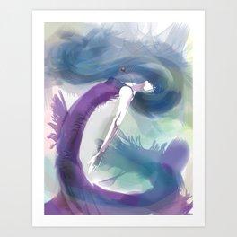 The Sea Becomes Her Art Print