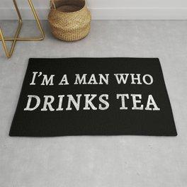 I'm a Man Who Drinks Tea Rug