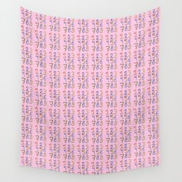number 2- count,math,arithmetic,calculation,digit,numerical,child,school Wall Tapestry