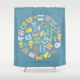 Cinema circle Shower Curtain