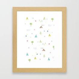 Outdoor pattern Framed Art Print