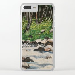 A Forest Retreat Clear iPhone Case