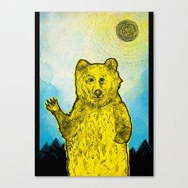 Original Bear Illustration Canvas Print