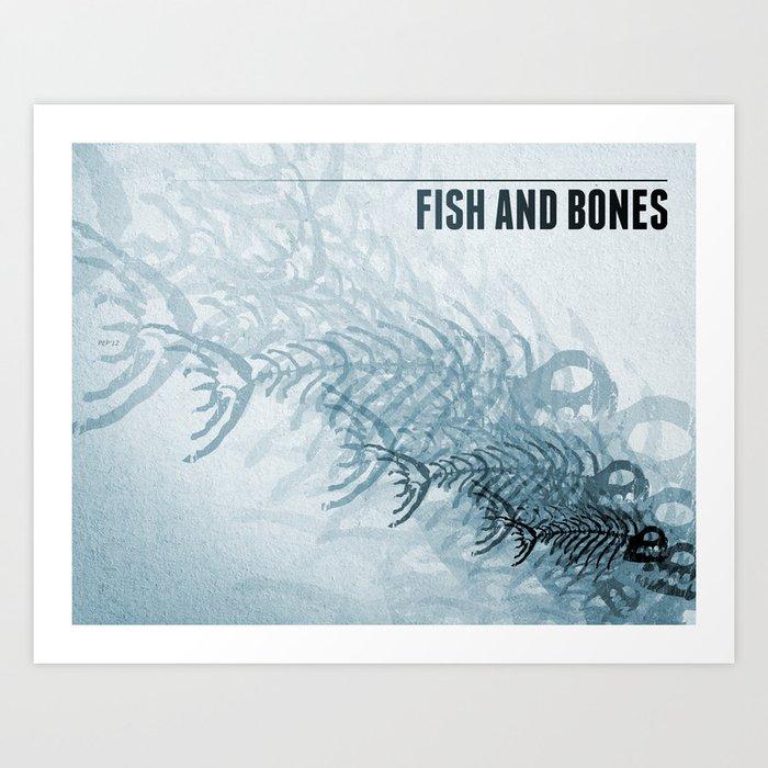 Fish And Bones Art Print