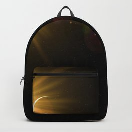 sun, earth and the moon Backpack