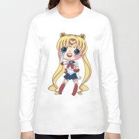 sailormoon Long Sleeve T-shirts featuring Sailor Moon Chibi by Hikari Rua