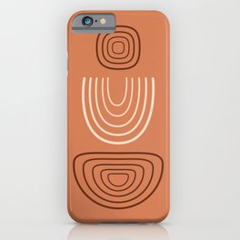 Meditations 01 - Contemporary, Minimal Abstract iPhone Case