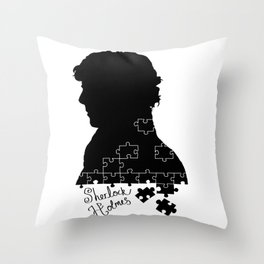 The consulting detective Throw Pillow