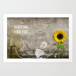 waiting for you... Art Print