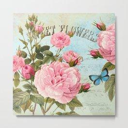 Vintage Flowers #2 Metal Print