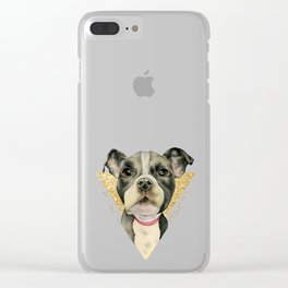 Puppy Eyes 3 Clear iPhone Case