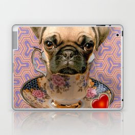 A little pug of tea Laptop & iPad Skin