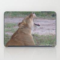 simba iPad Cases featuring Sleepy Simba by Fer Ruz