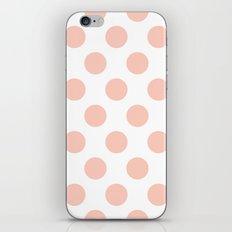 Peach Polka Dots iPhone & iPod Skin