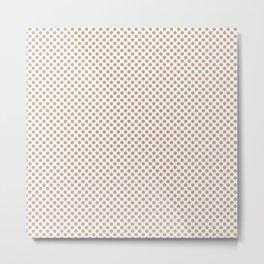 Maple Sugar Polka Dots Metal Print