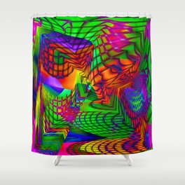the alternative route Shower Curtain
