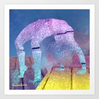 On the top of my roof Art Print