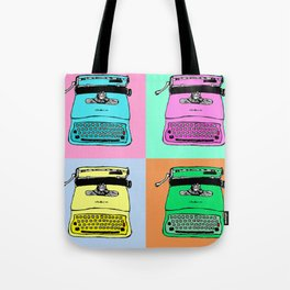 Let's warholize! Olivetti lettera22-style full of color Tote Bag
