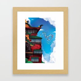 Bath House Framed Art Print