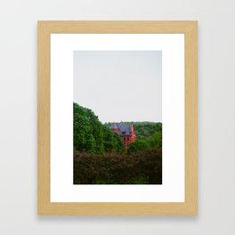 House in the Trees Framed Art Print