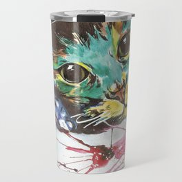 Emerald cat Travel Mug