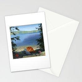 canoe on shore Stationery Cards