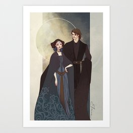 The senator and the general Art Print