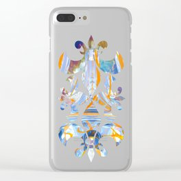 Swirl Land Clear iPhone Case