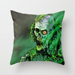 REANIMATED GREEN Throw Pillow