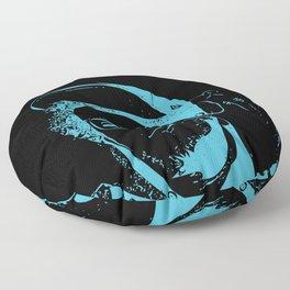 Blue Neon Floor Pillow